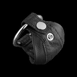 Leder-Peniskäfig mit Druckknopf